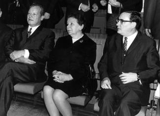Willy Brandt, Lotte Lemke, Klaus Schütz
